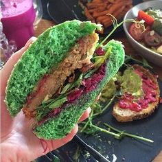 Matcha (green tea powder) burgers?