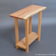 live edge narrow side table perfect for a small entryway table small hall table