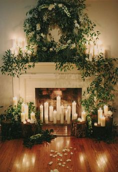 candle lit wedding ceremony