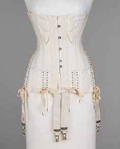 H & W Company  Corset  ca. 1908, American. Cotton, bone, metal, elastic.