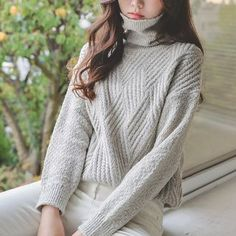 Buy JUSTONE Textured Turtleneck Sweater at YesStyle.com! Quality products at remarkable prices. FREE WORLDWIDE SHIPPING on orders over US$35.