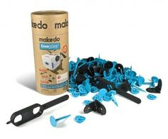 Makedo is a reusable connector system that enables construction using everyday materials including cardboard, plastic and fabric to create new things.