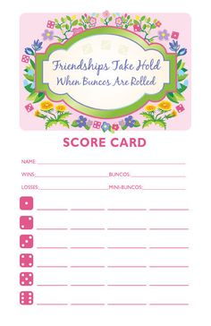 Free Bunco Printables Table Tents Tents And Free