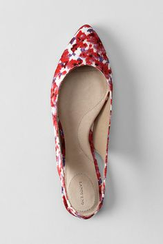 Pointed Toe Slingback Shoes from Lands' End