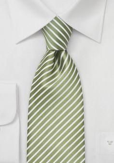 Parsley Krawatte in Lindgrün mit Weiß