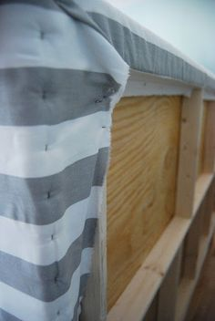reckless glamour: DIY Upholstered Headboard. This is a great web site for ideas to re-do furniture