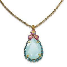 Sorrelli Swarovski Crystal Teardrop Pendant Necklace - http://elegant.designerjewelrygalleria.com/sorrelli/sorrelli-swarovski-crystal-teardrop-pendant-necklace/