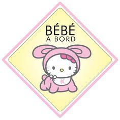 Bébé à bord Hello Kitty