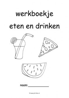 Werkboekjes - eten en drinken ~ Juf Milou