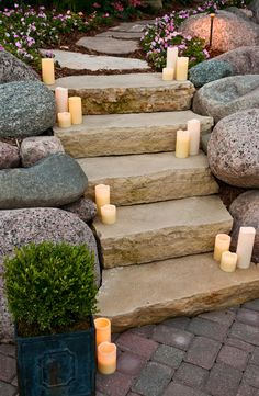 love these stone stairs