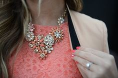 Love the blazer with the statement necklace