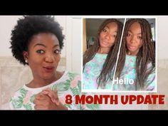 8 months post big chop!!! Update. :)