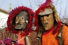 """caretos de lazarim (Portugal) ritual carnavalesco de origem """"profano"""""""