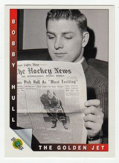 Bobby Hull # 88 - The Electric Slap Shot - 1991-92 Upper Deck Ultimate Original Six Hockey