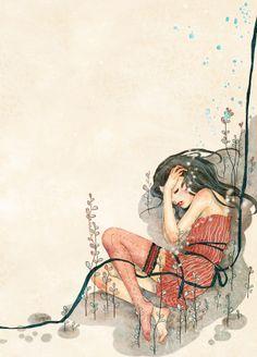 Editorial illustration by Khoa Le, via Behance