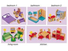 Play-All-Around Dollhouse Furniture