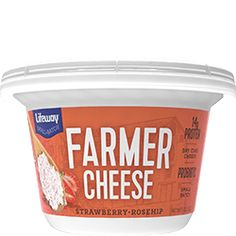 Strawberry Rosehip Farmer Cheese Cup - Lifeway Kefir