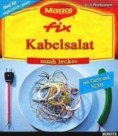Kabelsalat..   Lustige Bilder, Sprüche, Witze, echt lustig