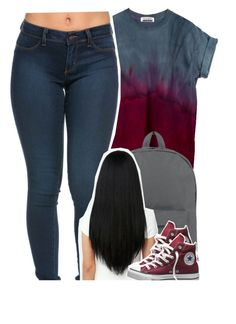 """6/22/2016"" by yeauxbriana ❤ liked on Polyvore featuring Herschel Supply Co. and Converse"