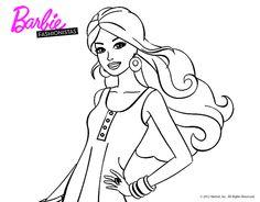 55 mejores imágenes de Dibujos de Barbie para colorear | Online
