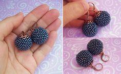 Fresh Blackberries Earrings (see on Facebook AndyBori or contact me: andybori@seznam.cz)