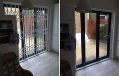 Our RSG1000 retractable security grilles fitted to a domestic property in West Hampstead, NW London.