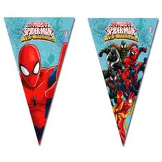 Complete the decoration of your venue for your Spiderman themed wedding with this huge Spiderman flag banner. It measures metres in length, and each flag depicts either Spiderman or his team of Web Warriors. Each individual flag measures long by wide. Spiderman Spider, Amazing Spiderman, Birthday Flags, Boy Birthday, Birthday Ideas, Spider Man Web Warriors, Marvel Ultimate Spider Man, Party Flags, Banner Letters