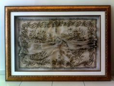 antique embroidery gold plated