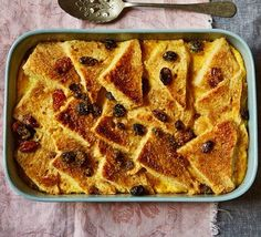 Transform a stale loaf into this comforting, traditional British dessert, layered up with a rich vanilla custard, dried fruit and lemon zest