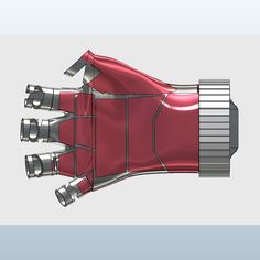 Iron man watch glove 3D model  (Project)