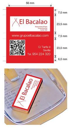 Propuesta Caja de Cerillas para Restaurante El Bacalao en Sevilla.