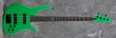 Carvin Guitars B24S, translucent pearl green (TPG), swamp ash body (ASH), black hardware (BC), abalone logo (ABL)