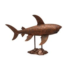 Finished in an antique copper hue, the Moes Home Collection Shark Statue in Antiqued Copper is rich with dramatic appeal. The realistic look of. Moe's Home Collection, Galvanized Metal, Home Decor Outlet, Antique Copper, Home Collections, Decorative Objects, Modern Contemporary, Shark, Modern Furniture