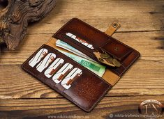 Diy Wallet, Long Wallet, Leather Diy Crafts, Leather Craft, Tandy Leather, Pu Leather, Minimalist Leather Wallet, Cigar Accessories, Handmade Leather Wallet