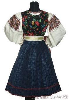 Picture 2 of 9 Folk Costume, Costumes, Embroidered Apron, Folk Embroidery, Blouses For Women, Skater Skirt, Two Piece Skirt Set, Skirts, Dresses