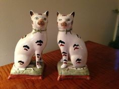 Pair Staffordshire Cats