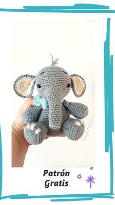 Animal Sewing Patterns, Crochet Toys Patterns, Stuffed Animal Patterns, Baby Knitting Patterns, Amigurumi Patterns, Easy Crochet Animals, Crochet Fox, Cute Crochet, Elefante Dumbo