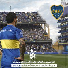 😍 Todo o dia é dia de vestir o MANTO. 😎  Pensou camisa do Boca, clicou Mania de Futebol. ... ⚽️  ✔️ www.maniadefutebol.com.br/boca  Você tem um time. A Mania de Futebol tem todos. 😉⚽️