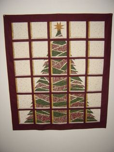 Christmas Windows quilt - paper piecing & attic window blocks... one of my fave to make.