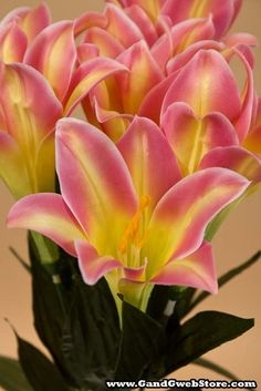 """19"""" SATIN EASTER LILY BUSH PINK - GandGwebStore.com Spring Blooms, Cute Bunny, Bees, Lily, Satin, Easter, Seasons, Flowers, Plants"""