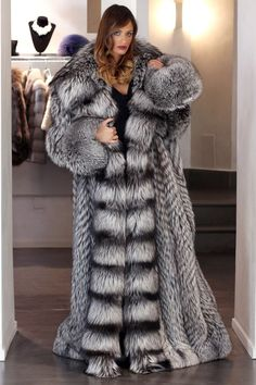 Fur Coat Jacket Silver Fox Simply Wonderful Full Lenght Pelzmantel Fuchs ЛИСА | eBay