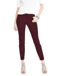 Sloan-Fit Floral Burnout Slim Ankle Pant