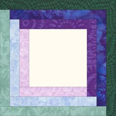 A Log Cabin quilt block design with 3 rounds of logs<br><br>Click on each thumbnail below for a larger image<br><br> Joy writes...Hi Julie,  My name is Joy Baird and I am trying to make a memory quilt with pictures of my granddaughter from ages 1 month to 12 months.