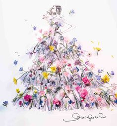 Miss Dior: the perfume for women with thousands of flowers | DIOR Parfum Miss Dior, Dior Flowers, Crows Drawing, Princess Dress Patterns, Long Lasting Perfume, Dior Fashion, Kid Rock, Flower Dresses, Flower Power