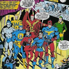 The Justice League of Homeland Security! You know Bucky; Wiki Jack Frost, Whizzer, Red Raven, Miss America, the Patriot and Thin Man - collectively (un)known as the Liberty Legion!