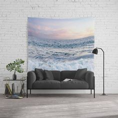 Clouds Wall Tapestry by Rebekah Joan - Home Decor - Clouds Themed Decor Coastal Style, Coastal Decor, Surf Decor, Wall Decor, Wall Art, Beach Shower Curtains, College Dorm Decorations, Ocean Sunset, Beach Cottages