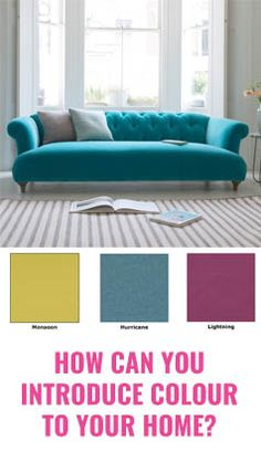A 4 step guide to creating a more colourful, bright, airy home without clashing colours. Introduce bold colours in the bedroom, living room or kitchen.
