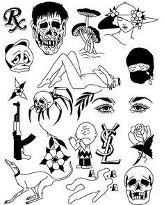 Sick Drawings, Trippy Drawings, Cool Art Drawings, Line Art Tattoos, Body Art Tattoos, Small Tattoos, Tattoo Sketches, Tattoo Drawings, Art Sketches