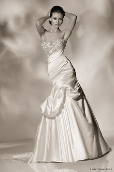 cristiano lucci 2013 wedding dress style 12816 emily strapless sweetheart gown pickup