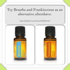 DIY refreshing aftershave! dōTERRA Breathe and Frankincense essential oils!!   http://mydoterra.com/essentiallydenise  https://www.facebook.com/dkdoterra